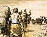 Nikolai Prjevalsky travels across the Gobi Desert and meets a camel train