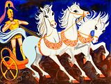 Rhesus, King of Thrace, and his magnificent white horses