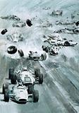 Cars crashing at the Indianapolis 500