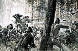 In 1765, General Edward Braddock was ambushed by French soldiers and fierce Canadian Indians