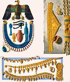 Assorted unidentified Egyptian jewelry