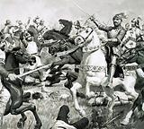 King Arthur led the Britons to overwhelming victory against the Saxons