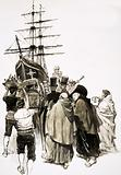 Loading of the Mary Dear, the ship intended to transport the Inca Treasure of Lima to Mexico, 1820