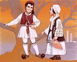 Greek children in their national costume