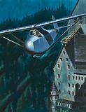 Glider escape from Colditz Castle