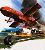 VFW-Fokker midget drone for spraying foam onto fires