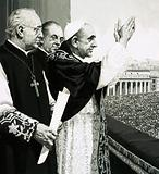 The Pope, waving to the crowds