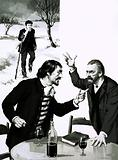 Gauguin and Van Gogh quarrelling