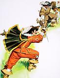 Cyrano de Bergerac in sword fight