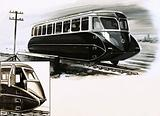Great Western Railways introduced streamlined railcars in 1934