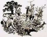 Akbar, King of Hindustan, hunting