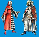 Costumes for serjeants-at-law and the Knights Templars