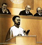 Haile Selassie speaks before the League of Nations