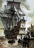 The last sight of the Pilgrim Fathers was Southampton dock