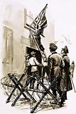 Under German occupation, Union Jacks were torn down