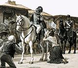 Simon Bolivar rides through the streets of Caracas in triumph