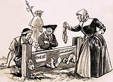 Shopkeepers and market stall traders who sold short measures were punished in stocks or pillories