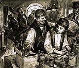 Unidentified scene of boy apprentice
