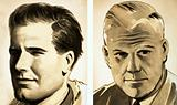Portraits of Commander Guy Gibson and Dr Barnes Wallis