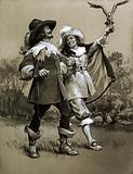 Louis XIII as a young man with his friend the falconer Albert de Luynes