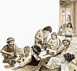 Romans feasting