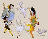 Children dancing in fancy dress