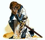 Knight lamenting