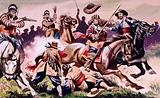English Civil war battle scene from The Children of the New Forest