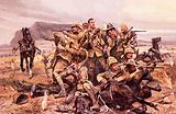 Last stand of the British 17th Lancers at the Battle of Modderfontein, South Africa, Boer War, 1901