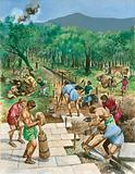 Construction of a Roman road