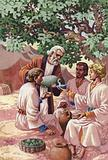 Abraham entertaining the three strangers