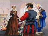 Mary Queen of Scots about to be beheaded at Fotheringay Castle