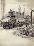 London buses used to take troops to the front during WWI
