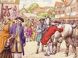 18th century market scene