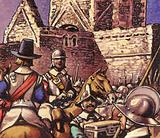Cromwell's army looting a Cistercian Abbey at Boyle in Ireland