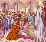 Brunehilda, queen of the Burgundians, expells Columbanus