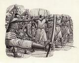 Longbowmen at the Battle of Falkirk