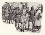 Foot soldiers from the 14th century