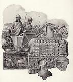 Sumarian chariot drawn by wild asses