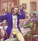James Young Simpson persuades some freinds to breath chloroform