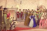 A party followed the arrival of Catherine of Aragon in England to be married