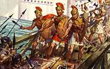 Horatius Cocles, Spurius Lartius and Titus Herminius defending the Pons Sublicius, Rome, 509 BC