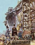 Brunel follows the progress of the building of the Great Eastern