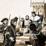 Count Guy de Dampierre imprisoned by King Philip of France