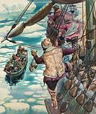 Henry Hudson being set adrift
