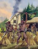 Attacks on American settlers by the Indians beginning in 1675