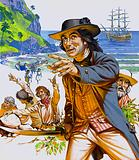 Discovery of Pitcairn Island by Midshipman Pitcairn