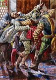 Assassination of Henry I, Duke of Guise, by the bodyguard of King Henry III, 1588