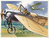 Bleriot XI Monoplane, aircaft of French aviator Louis Bleriot