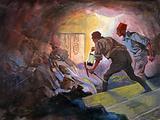 Howard Carter finding the sealed doorway